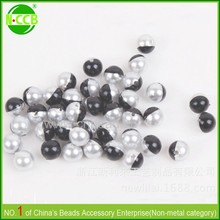 Lots of stock round plastic pearl spacer beads,acrylic half pearl beads