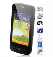 Wifi C5-03 Quad Band Dual Cards with Wifi Analog TV Java Touch Screen Cell Phone(Black)