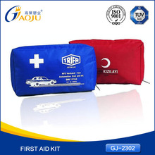 GJ-2302 Wholesale Professional ce fda certificated wholesale first aid kit,DIN13164 car first aid kit for car,first aid kit bag