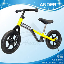 2015 aluminum baby small balance bicycle, running bike price in EN71