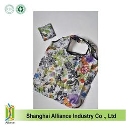 Rose Flowers Hummingbird Spring Eco Reusable Foldable Shopping Tote Bag