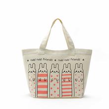 Rabbit pure cotton cloth shopping bag