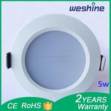 LED downlight 5w cool white/LED ceiling light 5w/LED curved light 5w