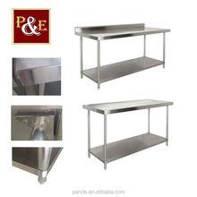 Heavy duty durable cheap price metal work bench kitchen prepare work table