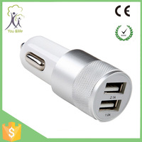 2015 wholesale fashion portable 12v usb laptop car charger 2 port for tablet and cellphone