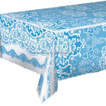plastic transparent tablecloth/christmas plastic tablecloth