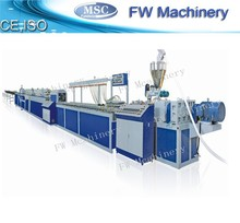 wholesale wpc profile production line/pvc profile welding machine for sale