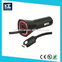 cigar solar cable 3 port usb car charger PVC 18awg TUV UL CE CSA VDE IEC Certificate