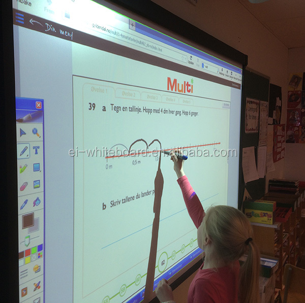 All in one interactive whiteboard with speaker