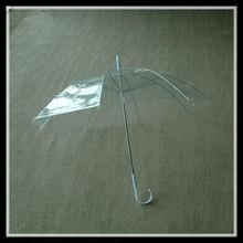 Cheap transparent Carton printing PVC Umbrella kids' straight umbrella with animal handle
