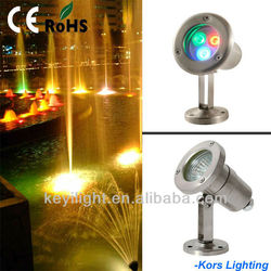 IP68 Stainless steel led underwater lights for fountains, led pool lighting ,swimming pool lights CE& ROHS (k36048-3)
