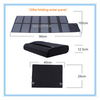 120W high efficiency outdoor portable folding solar panel for laptop/notebook/12V batteries/tablet pc/power bank