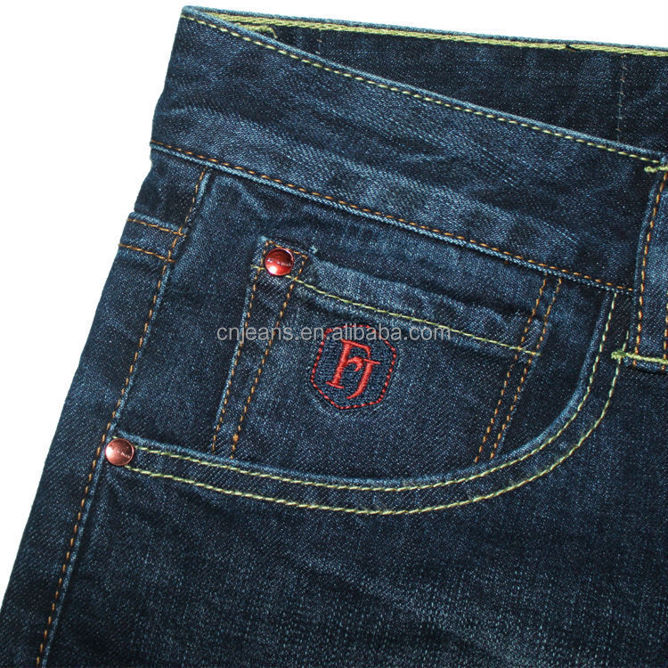 Gzy newest stock fashion men jeans embroidery design back