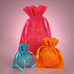 best selling wholesale factory manufacturer Packaging Drawstring Organza Gift Pouch
