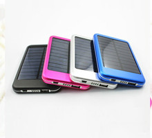 Wholesale product portable solar power bank charger 5000mAh, mobile phone power bank charger