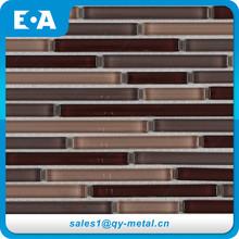 China Home Decor Company Halls Mosaic Foil Coating Glass Tile