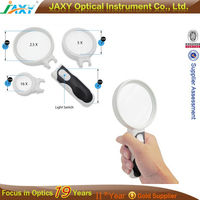 OEM Private Label LED Handheld Magnifying Glass Set - 2.5X 5X and 16X Magnification Power - Magnifier For Senior
