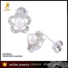 2015 Party Fashion Women Flower Earring DF84949 Sterling Silver 9.25 jewelry Wholesale