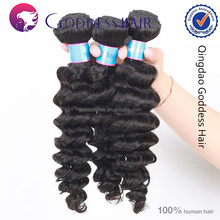 Hair salon supplier hair extension 6A 1b# unprocessed virgin human hair salon