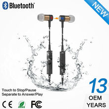 New products v4.1 ear hook wireless sport waterproof headset stereo bluetooth headphone