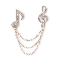 2015 New Arrival Jewelry Broche Trendy Top Fashion Titanium Semi-precious Brooches For Women Of Music Note Shape brooches 033