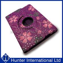 Diamond Flower 360 Rotating Tablet Case For iPad Mini