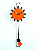 Fashion Wall Clock Sun Shaped Wall Clock with Pendulum Factory Price with High Quality