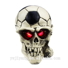 led de fútbol patrón de resina cráneo decoración de halloween