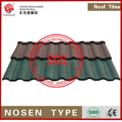 high quality wavy building material stone coated metal roof tile(Nosen Type)