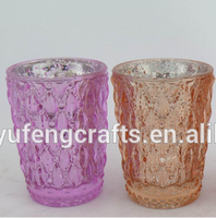 crystal glass candles,color tea light holder,popular candle glass