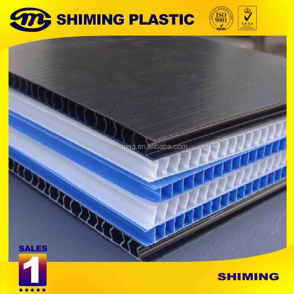 Plastic Pp Twin Wall Fluted Corrugated Sheet Boardeco