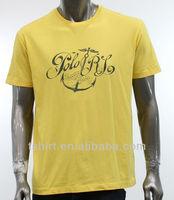 Short sleeve men's t shirt iron on letters