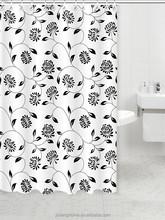 Custom Made European Style Flower Shower Curtain