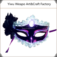 Wholesale Women Fancy Party Supplies Birthday Party Sex Toys Mask Bright Purple Party Mask