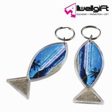 High quality souvenir cheap plastic acrylic keychain for sale