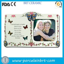 Custom white book shape photo frame best gift for mothers' day