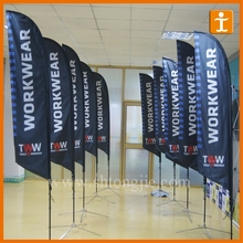 Events Show Feather Flags Promotion Durable Teardrop Flag Outdoor advertising printed