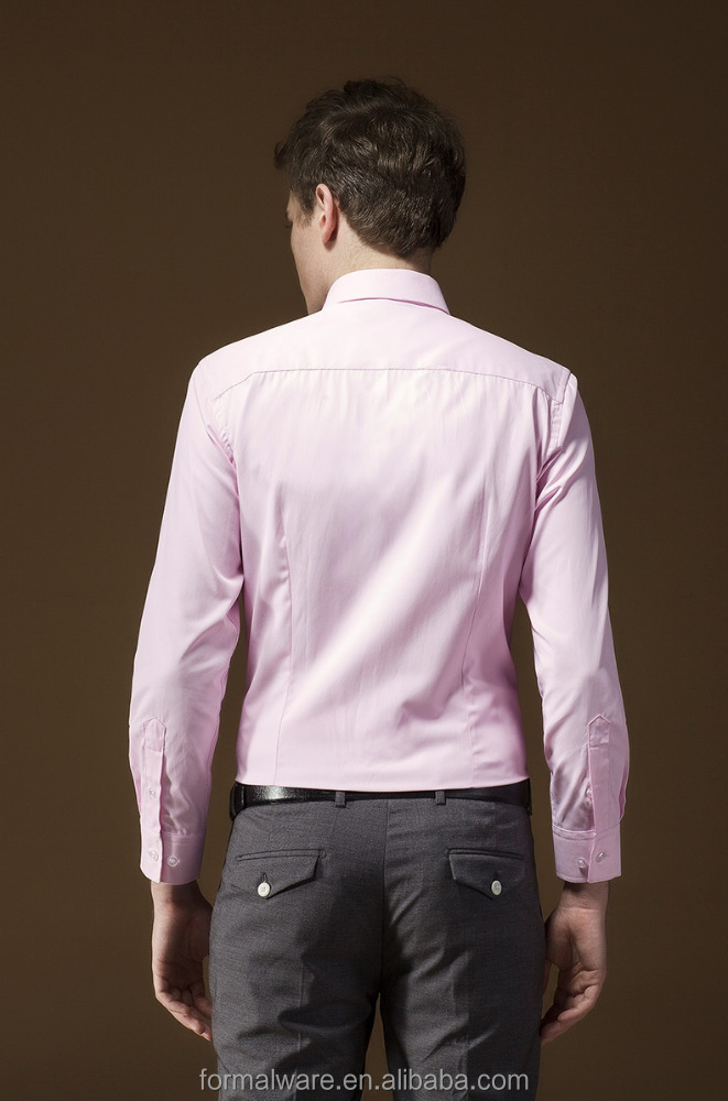 Custom tailored dress casual formal fitted shirts for men for Tailor dress shirt cost