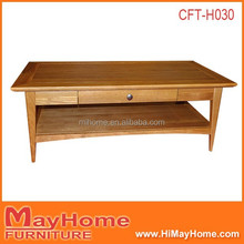 low price pine solid wood narrow coffee table