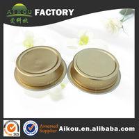 Mini round aluminum foil tin with lids