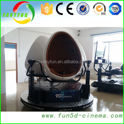 2015 Most Attractive 360 Degree VR Cinema Virtual Reality 9D Egg VR 9D Cinema Motion Chair