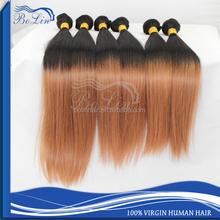ombre bundles 100% remy human hair extension fusion extension ombre color hair extensions