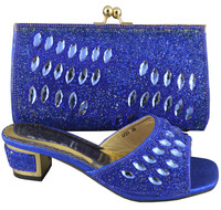 SB419 blue color EUR size 38/39/40/41/42/43 message us which size you want genuine leather italian matching shoes and bags