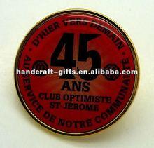 Custom 2012 offset printing metal lapel pin badge