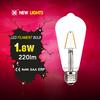 360 degree E27 E26 B22 2w 4w 6w 8w high quality st64 led filament bulbs