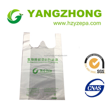 High quality plain white plastic shopping bags