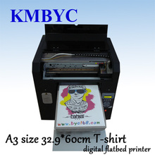BYC a3 Flatbed digital t shirt printer, textile t shirt printing machine easy to use