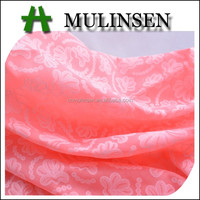 Mulinsen Textile Dyeing 100% Cotton Voile with Embroider Fabric