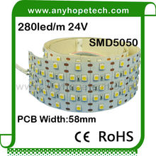 popular decoration 2.5 meter per roll single color ce rohs led strip