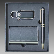 Business Credit Name Card Holder Case Pen keychain Gift Set